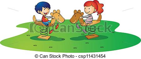 Playground clipart spring Clipart on of Vector horse