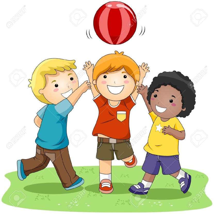 Outside clipart play sport & Children Picture Playing The