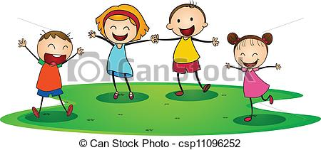 Outside clipart outdoor play Playing Vector Clipart Kids Clipart