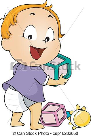 Baby clipart baby toy  of of Baby Toys