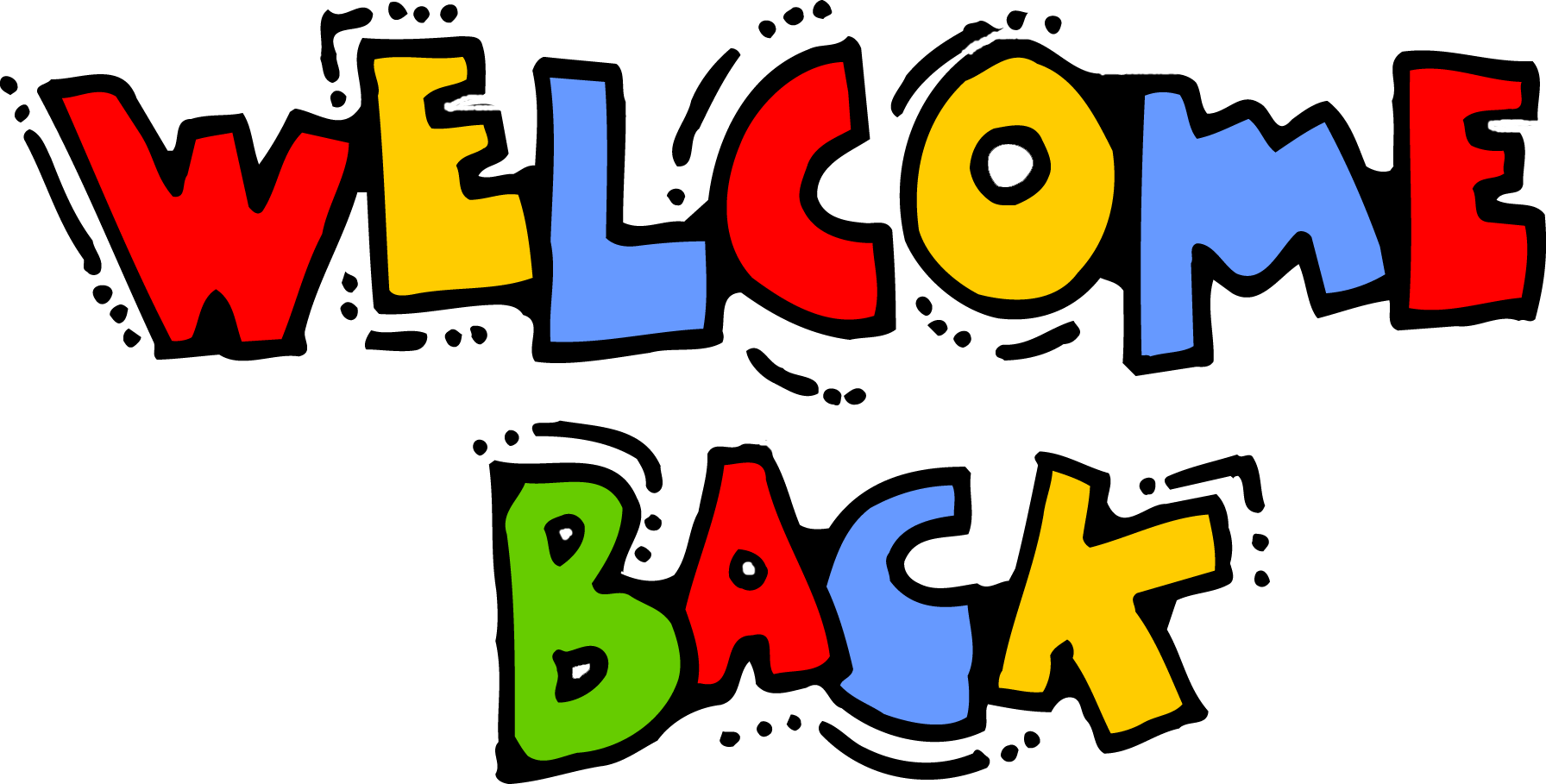 Amonday clipart welcome back Back Animated clipart 1792x909 welcome