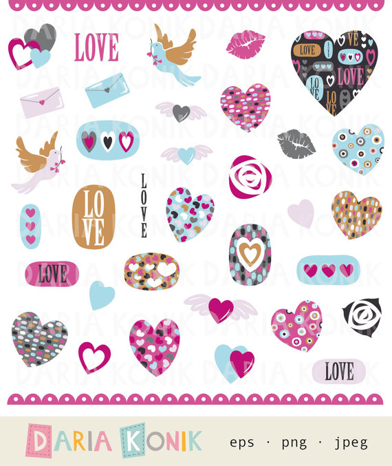 Please clipart i love you Hearts  eps Day Please