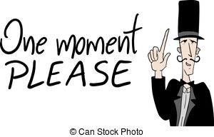 Please clipart one moment Graphics  EPS Vector one