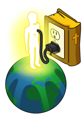 Plugged clipart overloaded Plugged bible com Man Image