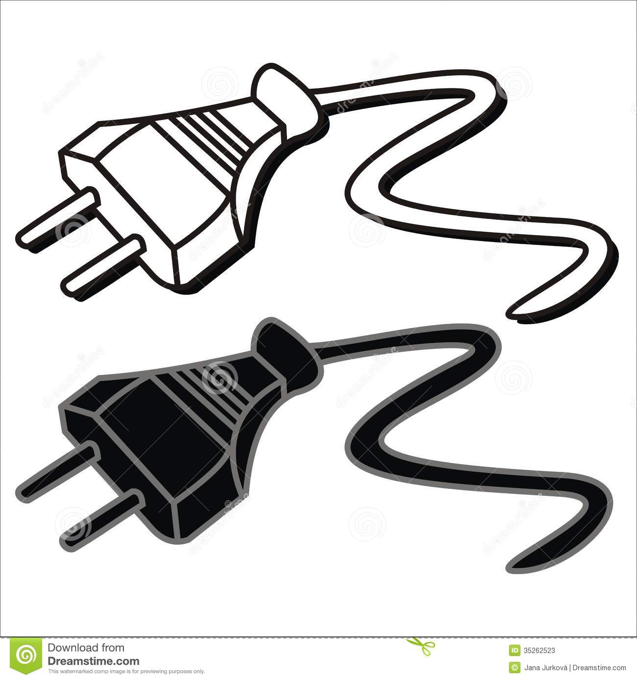 Wire clipart electrical wire And Clipart plug  Black