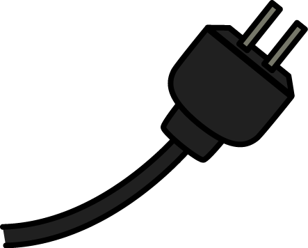 Wire clipart extension cord Electricity Electricity Art Black Cord