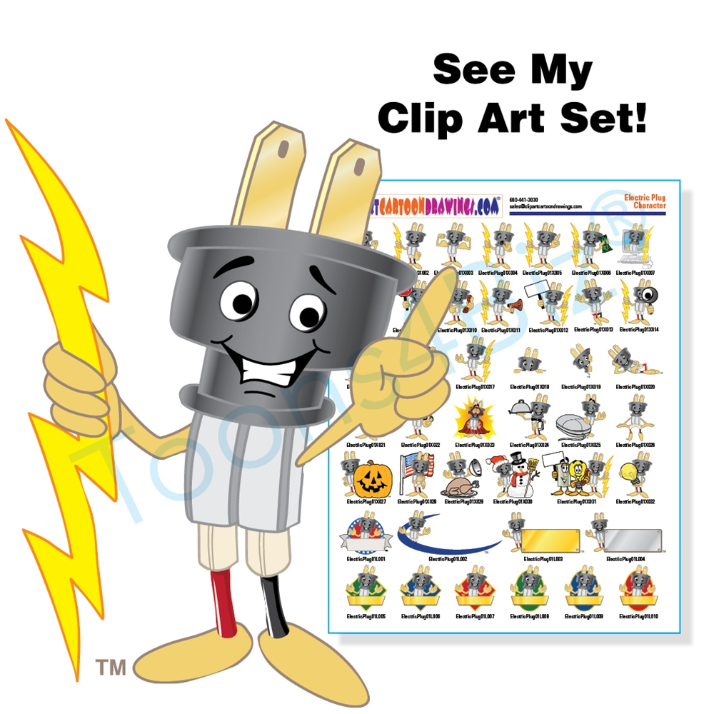 Plugged clipart electrical installation Electric Plug Art Art Set