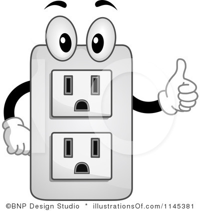 Plugged clipart outlet Stock Socket Illustration plug Collection