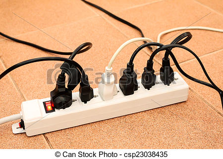 Plugged clipart overloaded Multiple  power of plug