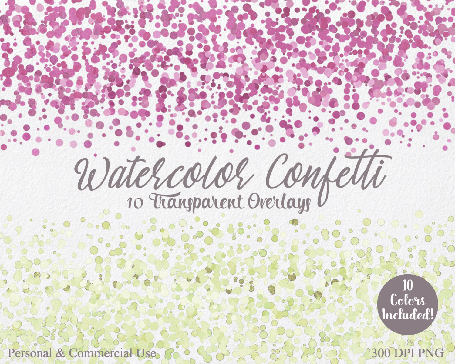 Plum clipart border BORDER Lilac CONFETTI Use Commercial