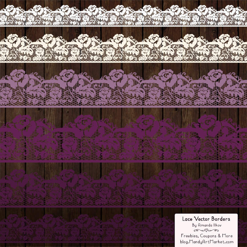 Plum clipart border Lace file digital a Borders