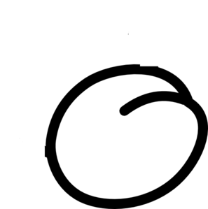 Plum clipart outline Clker Outline art Plum online