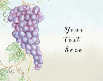 Vineyard clipart grape plant Invitation art prayers clip Watercolor