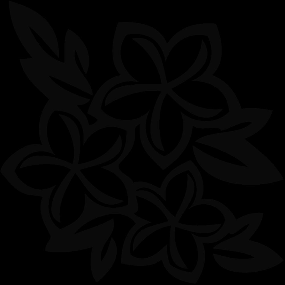 Plumeria clipart  Clipart Black Plumeria