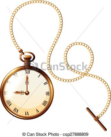 Pocket Watch clipart chain drawing Luxury Close watch of pocket
