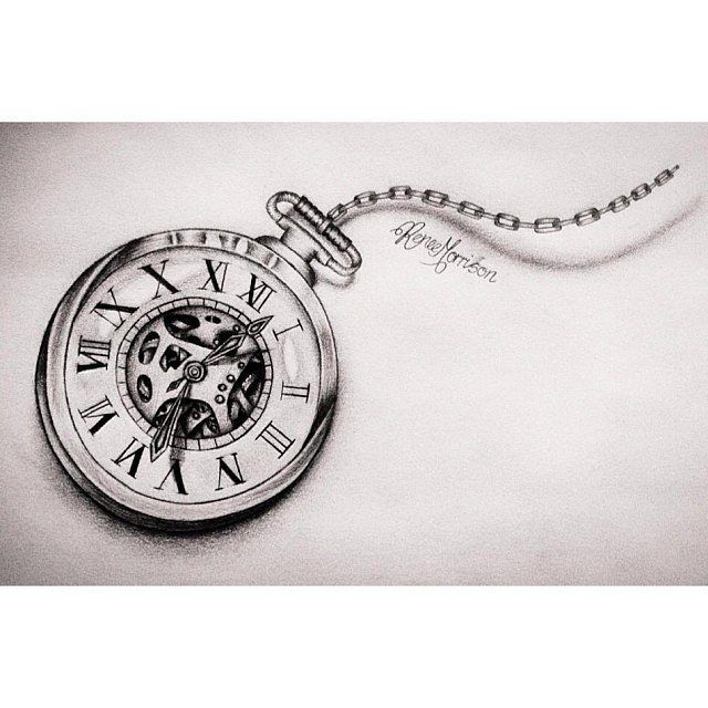 Pocket Watch clipart chain sketch On tattoo 308 and Pinterest