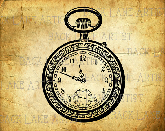 Pocket Watch clipart compass Download Lineart Etsy Lineart Studio