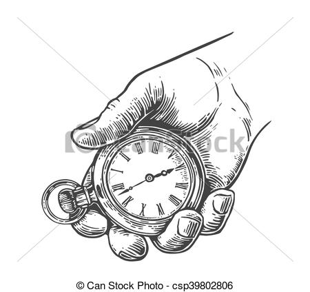 Pocket Watch clipart hand watch Csp39802806  Male Vector of