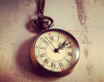 Pocket Watch clipart old school Pendant Bronze watch Necklace Grandfather
