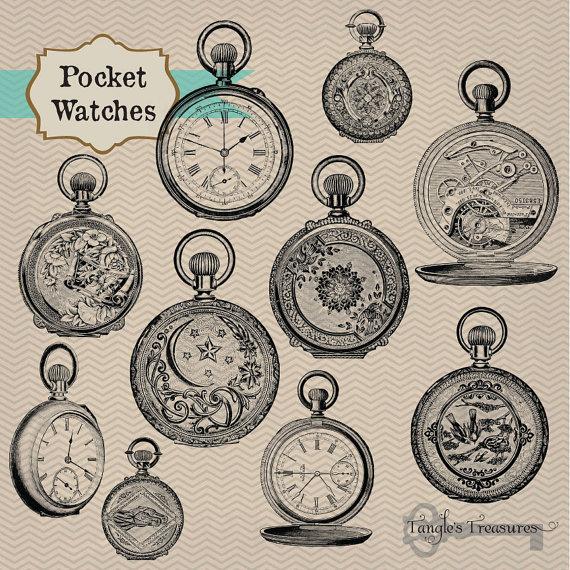 Pocket Watch clipart ornamental Art Like Pocket Vintage this