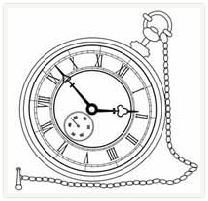 Pocket Watch clipart outline Clip watch/ Free clock objects