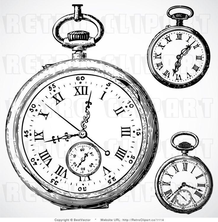 Pocket Watch clipart outline Best Watch 28 Clip Vintage