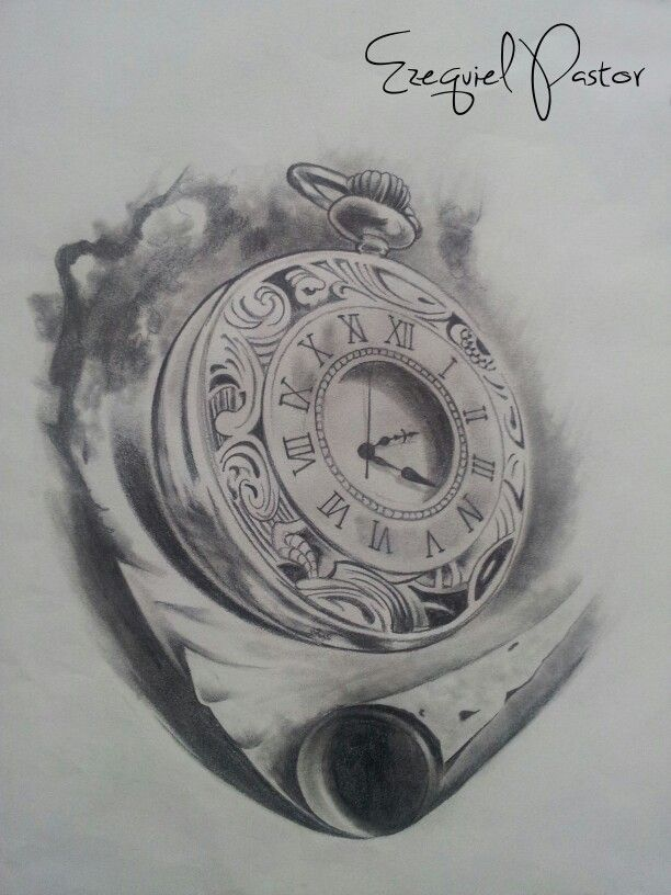 Pocket Watch clipart sketch Pinterest Drawing party my con
