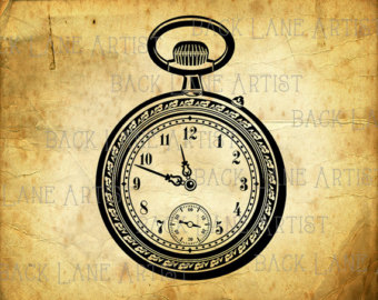 Pocket Watch clipart timepiece Drawing Download Watch Lineart PNG