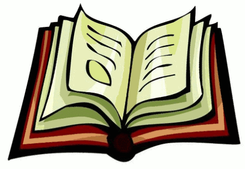 Poem clipart book About Reading Poems and Books