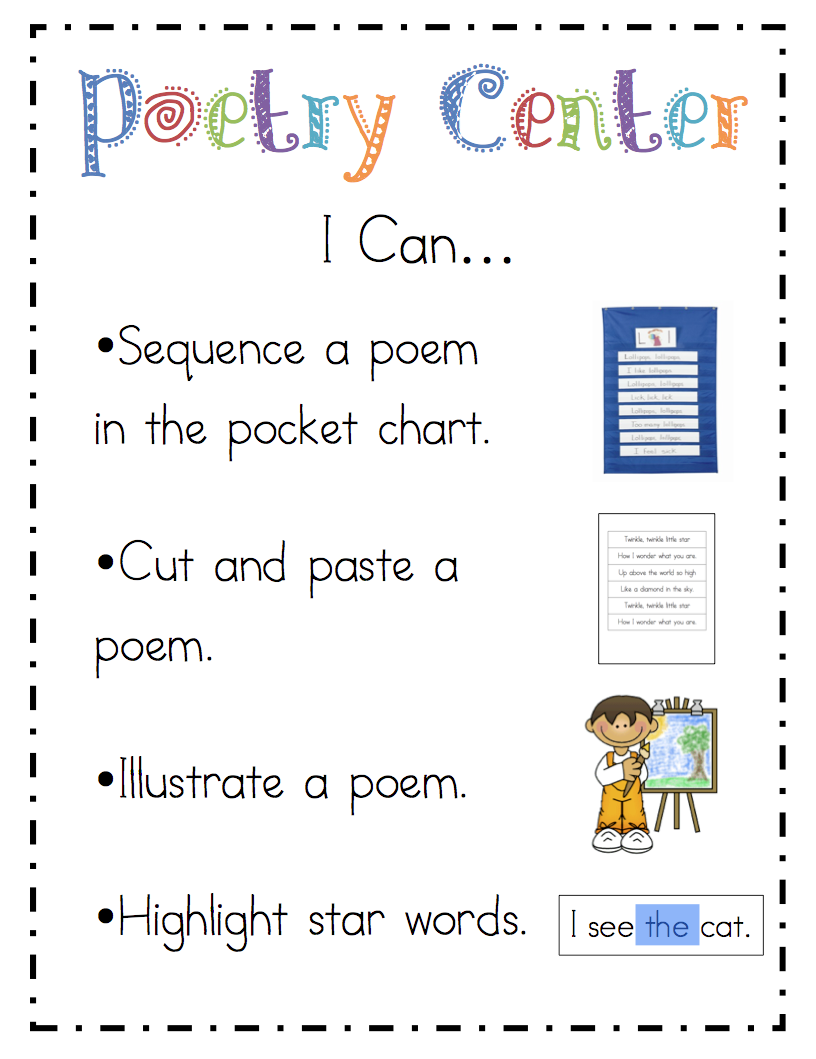 Poem clipart center #7
