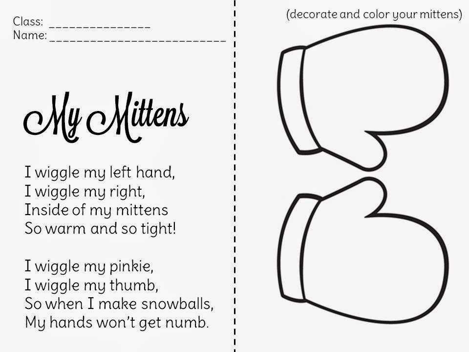 Poem clipart grade 2 Poem the the mitten first