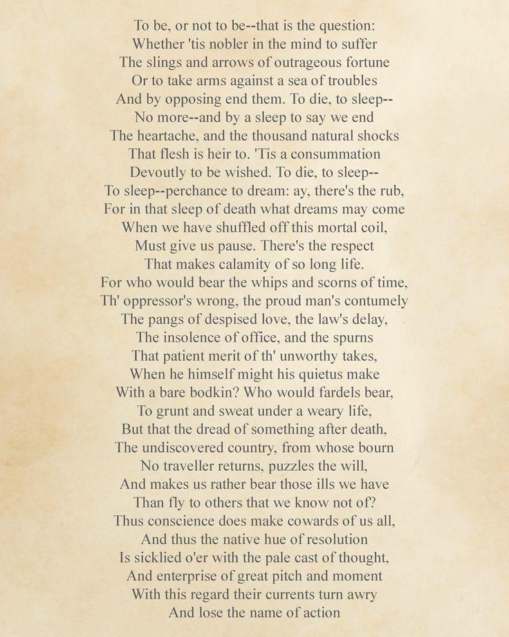 Poem clipart hamlet 25+ william by for Pinterest