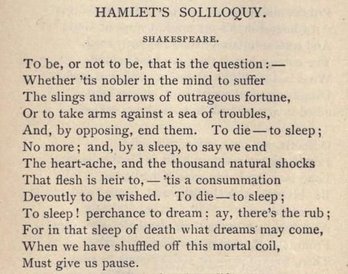 Poem clipart hamlet Poetic Soliloquy be or to