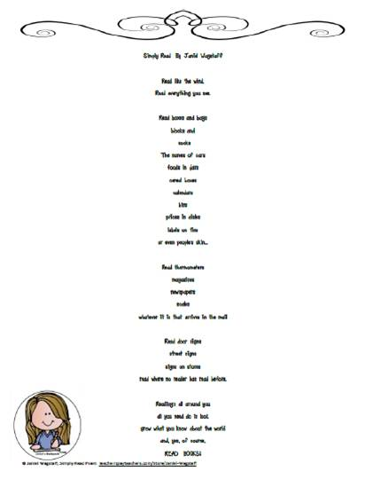 Poem clipart language art With end a  your
