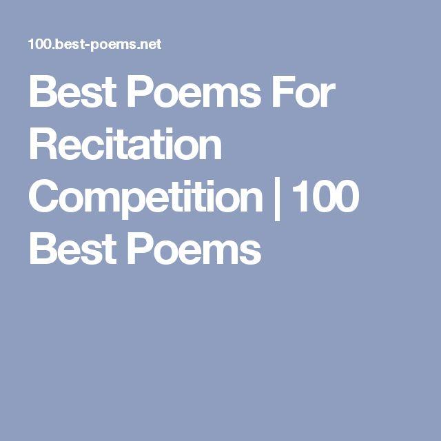 Poem clipart poem recitation Best Best Poem Competition ideas