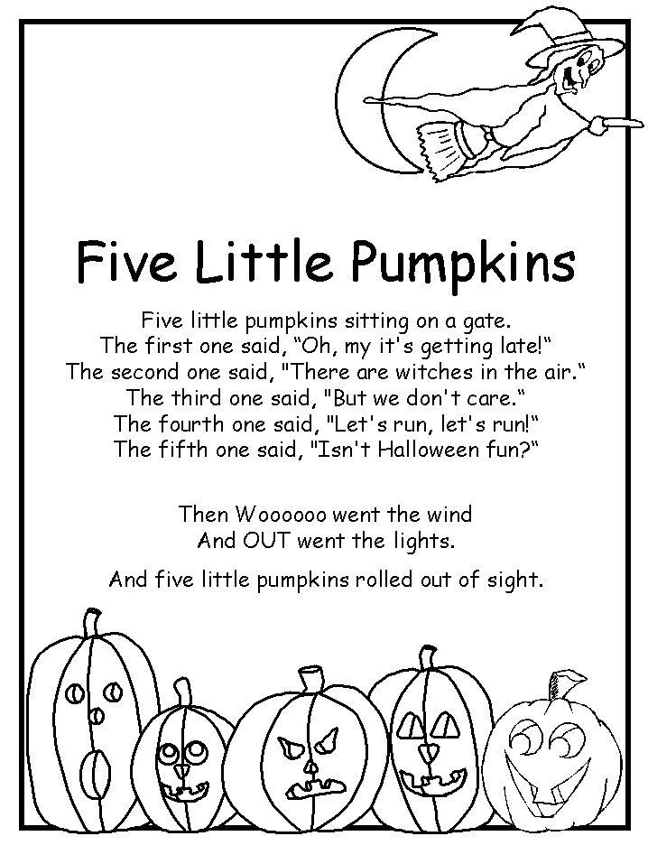 Drawn pumpkin nursery class Little on 460 Kids poem