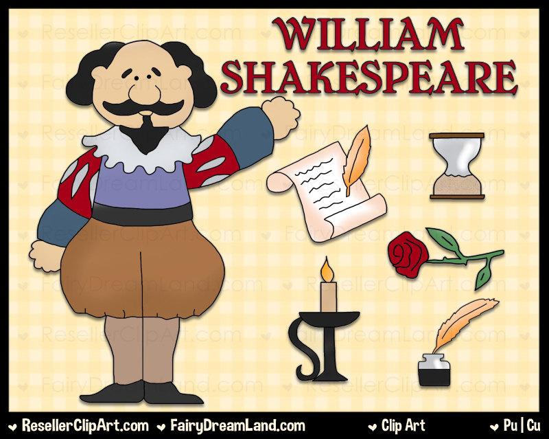 Poem clipart shakespeare Graphic Art William  Digital