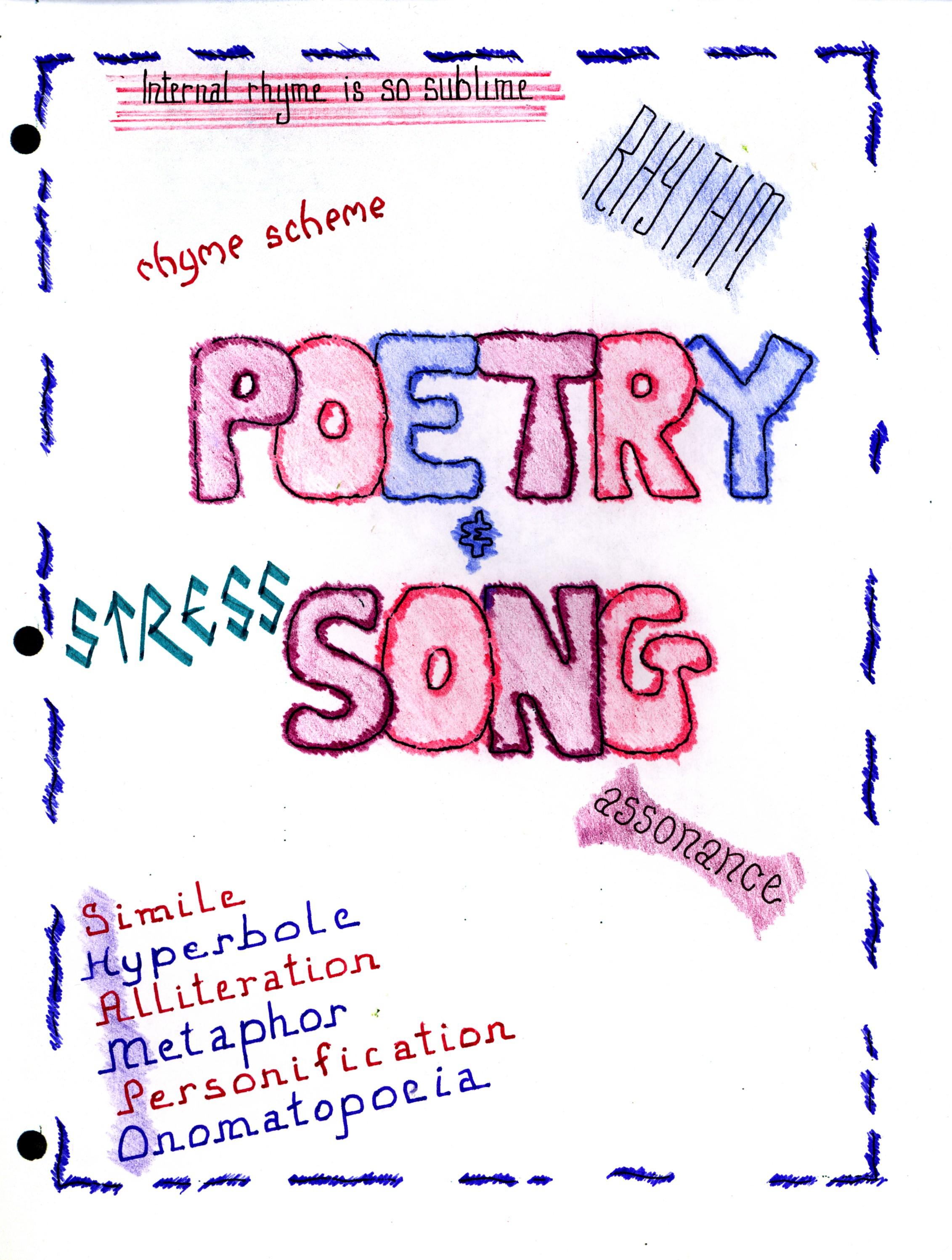 Poem clipart title TEACHER  – title page