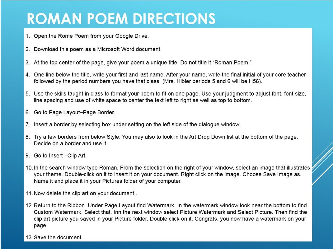 Poem clipart title Computer Concepts and Applications Poem