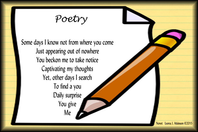 Poem clipart writing #2