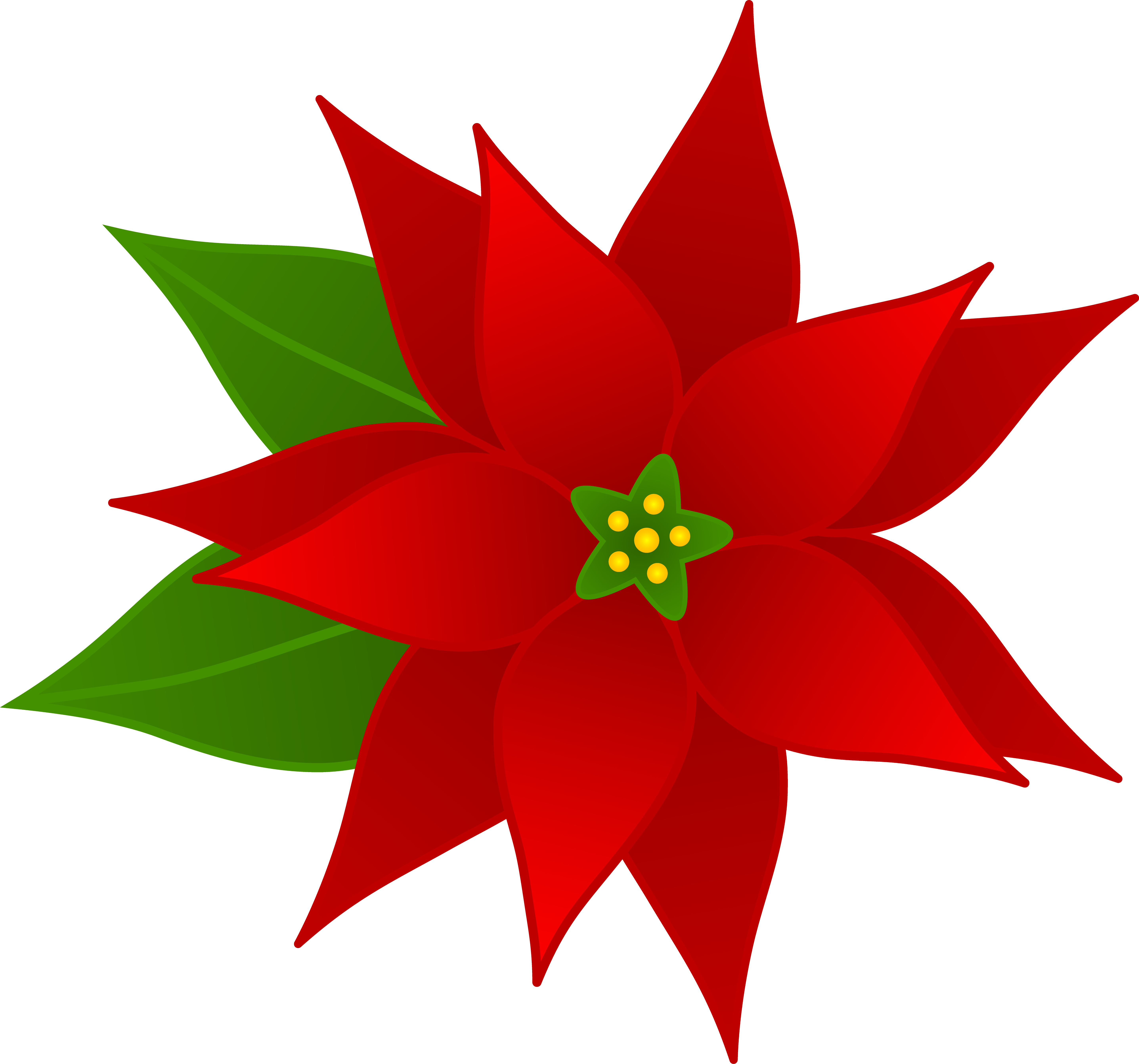 Poinsettia clipart Christmas Red Christmas Clip Free