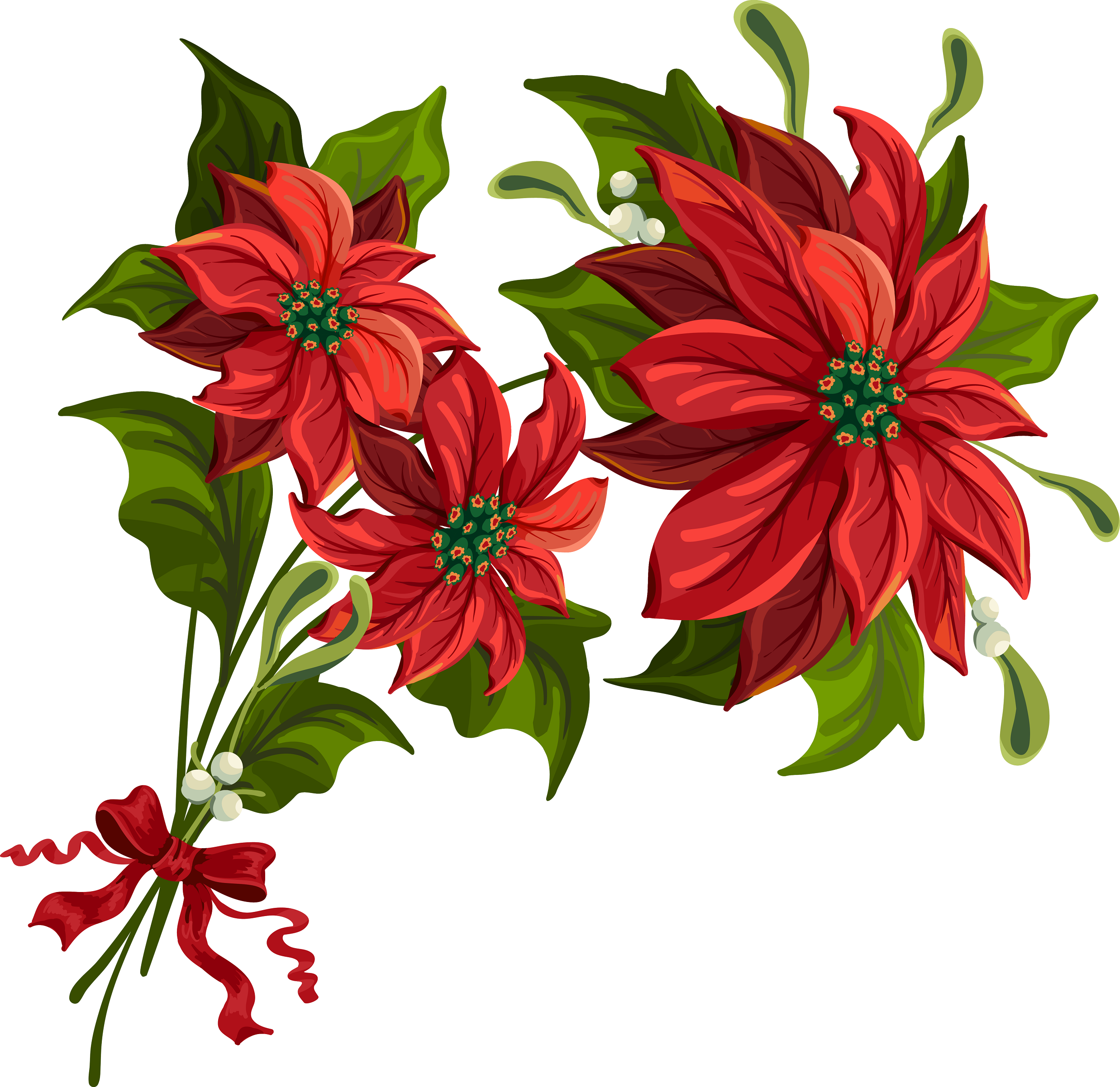 Poinsettia clipart Art poinsettia Holiday  Scrapbook