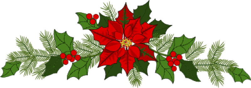 Poinsettia clipart Garland Christmas & images clipart