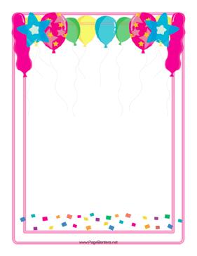 Poinsettia clipart balloon Border Border Art Clip Balloon