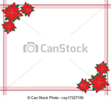 Poinsettia clipart beautiful christmas Of Christmas A Beautiful Border