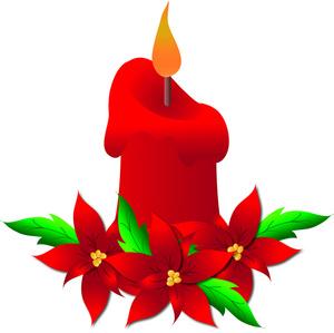 Poinsettia clipart beautiful christmas Clipart Beautiful Cliparts Beautiful candle
