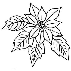Poinsettia clipart christmas tree branches Pinterest Clip Poinsettia Black Art