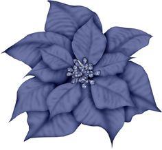 Poinsettia clipart blue Poinsettia Black CLIP CHRISTMAS by