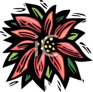 Poinsettia clipart cartoon Picture Free Clipart Free Flower