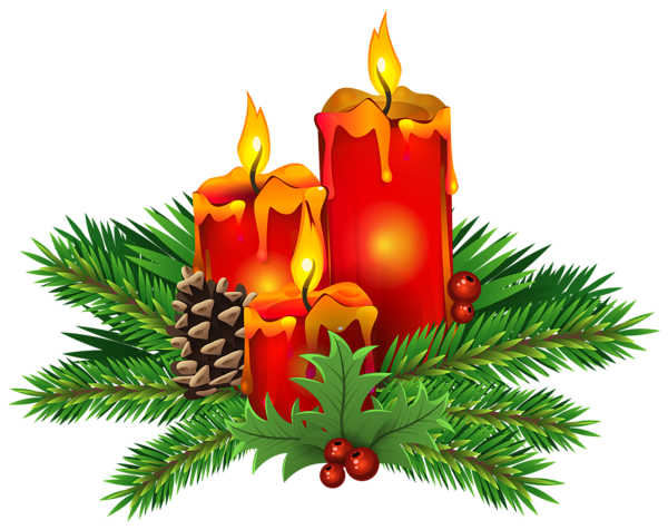 Poinsettia clipart christmas candle Clip PNG Christmas Image Candles
